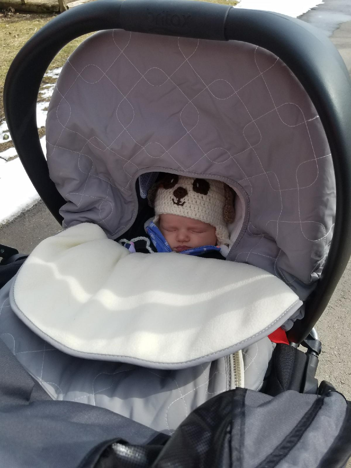 Mabel in Stroller